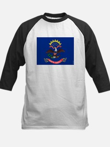 North Dakota State Flag Kids Baseball Jersey