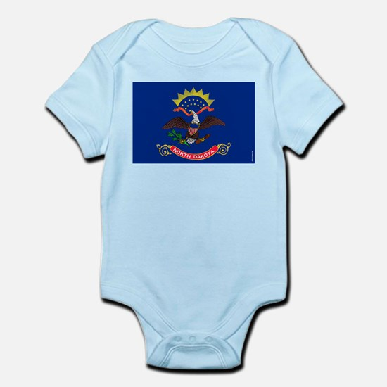 North Dakota State Flag Infant Bodysuit