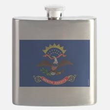 North Dakota State Flag Flask