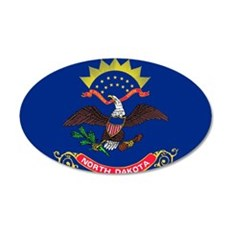 North Dakota State Flag Wall Decal