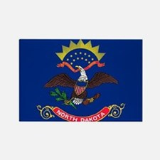 North Dakota State Flag Rectangle Magnet