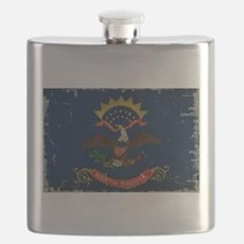 North Dakota State Flag VINTAGE Flask