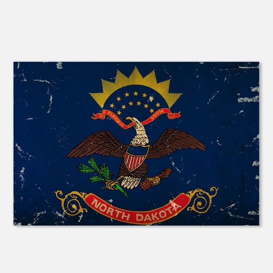 North Dakota State Flag VINTAGE Postcards (Package