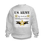 Army Uncles Defending Freedom Kids Sweatshirt