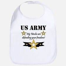 Army Uncles Defending Freedom Bib