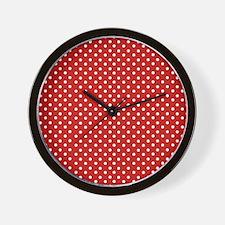 Polka Dot Red Wall Clock