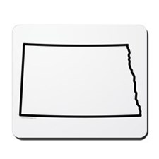 North Dakota State Outline Mousepad