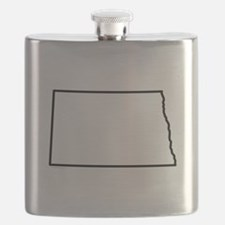 North Dakota State Outline Flask
