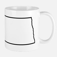 North Dakota State Outline Mug