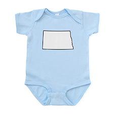 North Dakota State Outline Infant Bodysuit