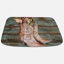 primitive barnwood cowboy boots Bathmat