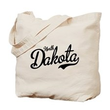 North Dakota Script Black Tote Bag