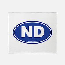 North Dakota Throw Blanket