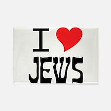 I Heart Jews Rectangle Magnet