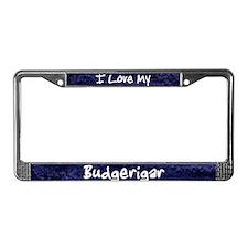 Funky Love Budgerigar License Plate Frame