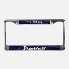 Funky Love Budgerigar License Plate Frame