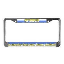 Honor Student Budgie License Plate Frame