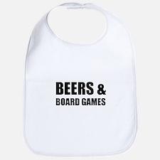 Beers & Board Games Baby Bib