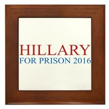 Hillary For Prison Framed Tile