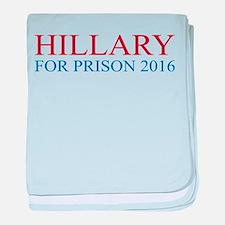 Hillary For Prison baby blanket