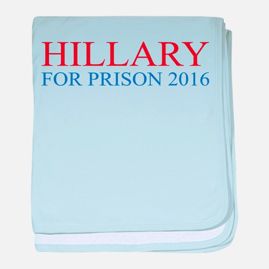 Hillary For Prison baby blanket
