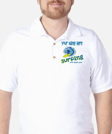 Surfing Golf Shirt
