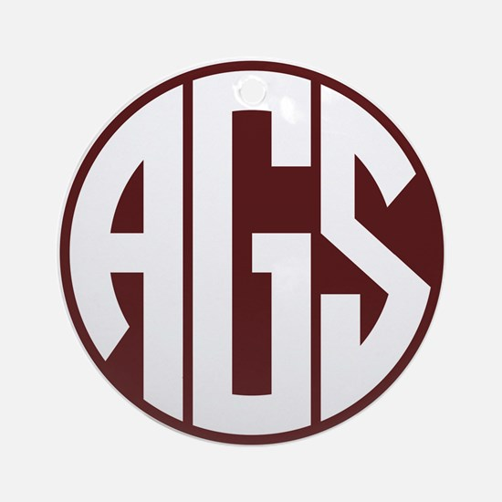 AGS - SEC - Maroon Round Ornament