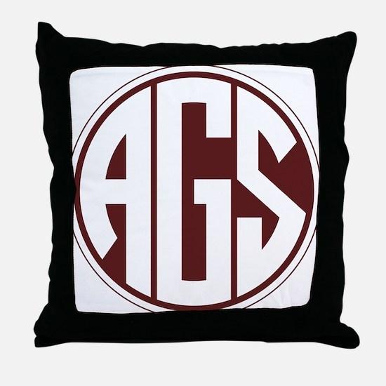 AGS - SEC - Maroon Throw Pillow