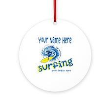 Surfing Round Ornament
