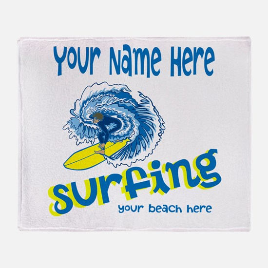 Surfing Throw Blanket