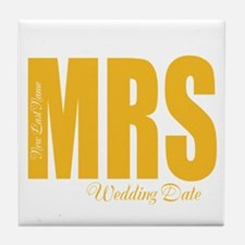 Fall Wedding Tile Coaster