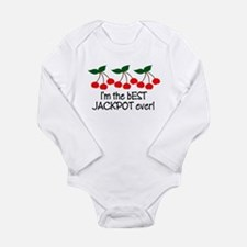Funny Vegas baby Long Sleeve Infant Bodysuit
