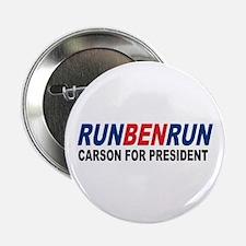 """Run Ben Run Carson President 2016 2.25"""" Butto"""