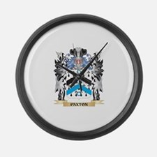 Paxton Coat of Arms - Family Cres Large Wall Clock