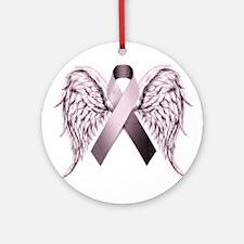 In Memory of - Purple Round Ornament