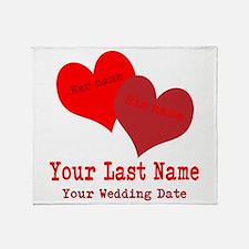Wedding Hearts Throw Blanket