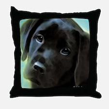 Black Lab Throw Pillow