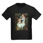 Ophelia's Yorkie (17) Kids Dark T-Shirt