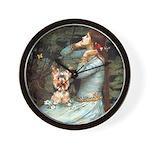 Ophelia's Yorkie (17) Wall Clock