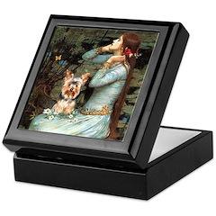 Ophelia's Yorkie (17) Keepsake Box