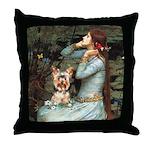 Ophelia's Yorkie (17) Throw Pillow