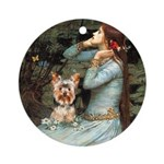 Ophelia's Yorkie (17) Ornament (Round)