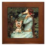 Ophelia's Yorkie (17) Framed Tile