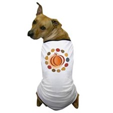 Happy Thanksgiving Illustration Dog T-Shirt