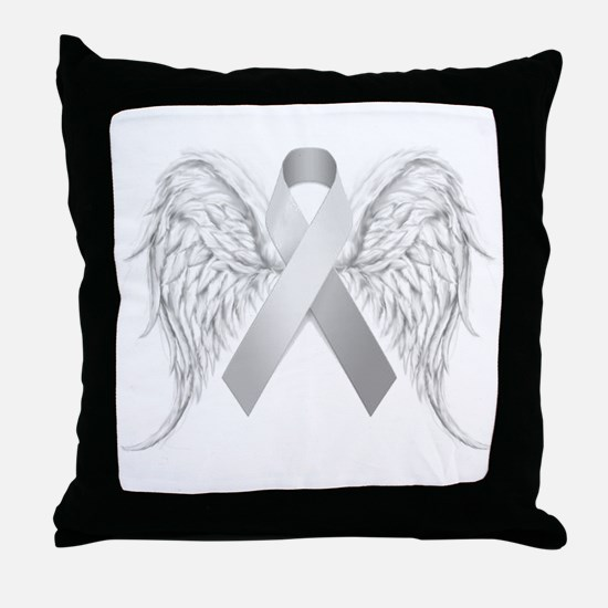 In Memory of - Silver Throw Pillow