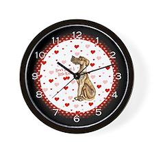 Great Dane Brindle UC Kiss Wall Clock