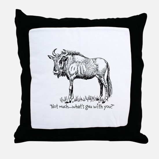 Whats Gnu? Throw Pillow