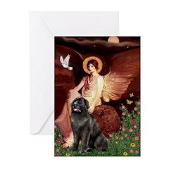 Angel & Newfoundland Greeting Cards (Pk of 20)