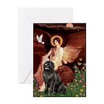 Angel & Newfoundland Greeting Card