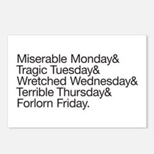 Pessimistic Week Postcards (Package of 8)